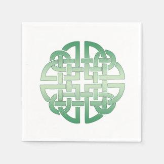 Celtic Knot Pattern on editable background colour Disposable Napkin