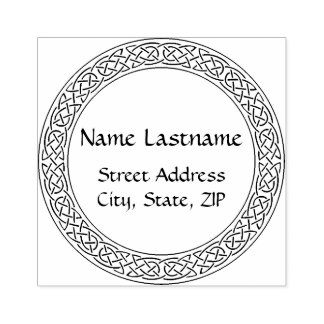 Celtic Knot personalized rubber stamp