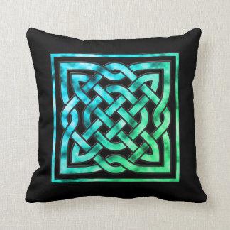 Celtic Knot Pillow - Blue Green Design