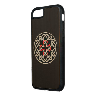 Celtic Knot Red Metallic iPhone Case