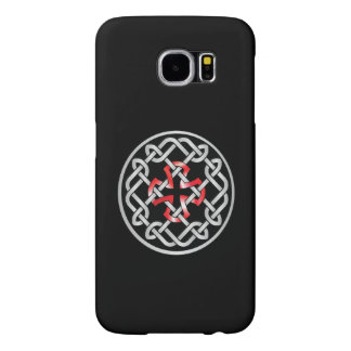 Celtic Knot Red Metallic Samsung Galaxy S6 Cases