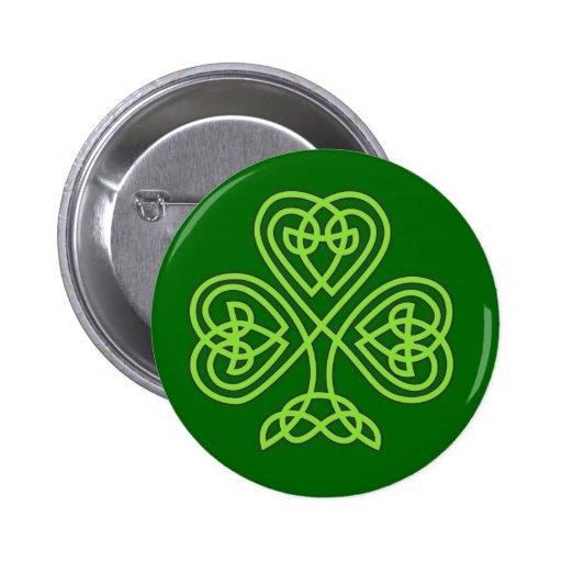 celtic knot shamrock buttons