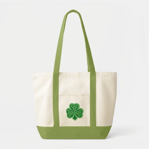 Celtic Knot Shamrock Tote Bags
