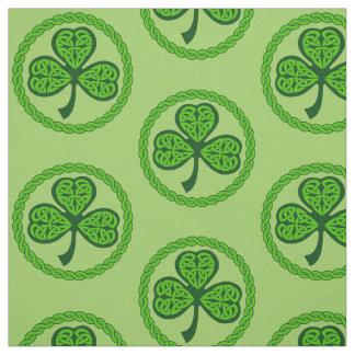 Celtic Knot Shamrock Green Fabric