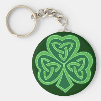 Celtic Knot Shamrock Key Chain
