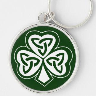 Celtic Knot Shamrock Key Ring
