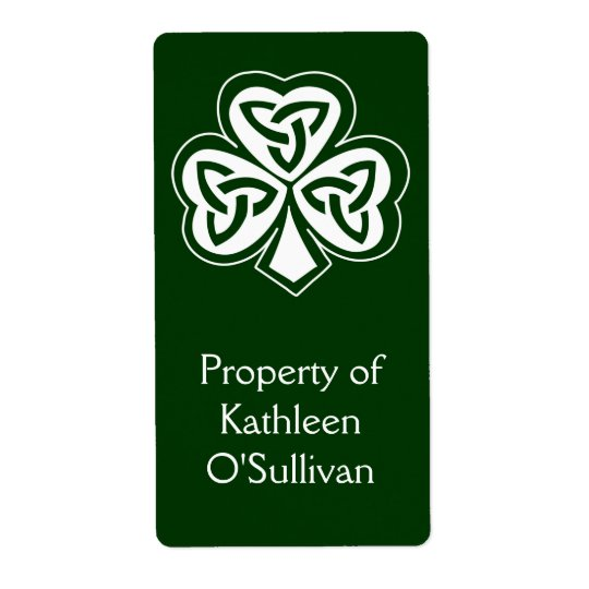 Celtic Knot Shamrock Label