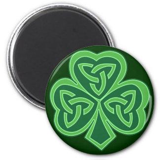 Celtic Knot Shamrock Refrigerator Magnets