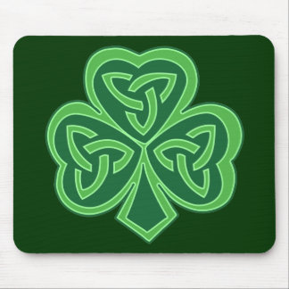 Celtic Knot Shamrock Mouse Pad
