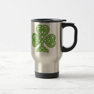 celtic knot shamrock coffee mug