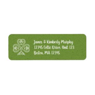 Celtic Knot Shamrock Return Address Label