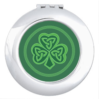 Celtic Knot Shamrock Travel Mirror