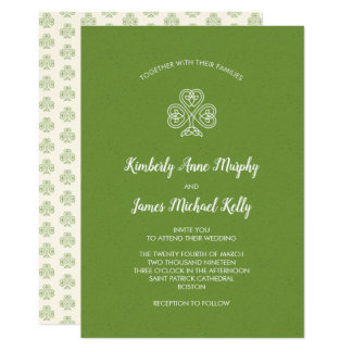 Celtic Knot Shamrock Wedding 2 Card