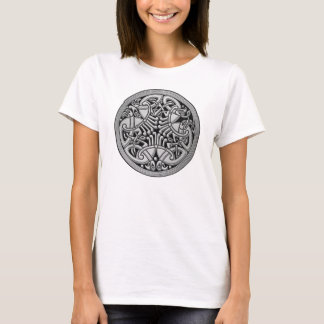 Celtic Knot Silver Birds & Black -Women's T-Shirt