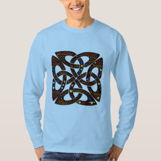 Celtic knot symbol filled with word and emoji art T-Shirt
