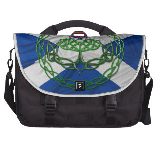 Celtic Knot Thistle And Flag Laptop Bag