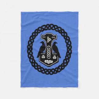 Celtic Knot Thor's Hammer Fleece Blanket