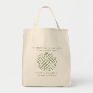 Celtic Knot Grocery Tote Bag