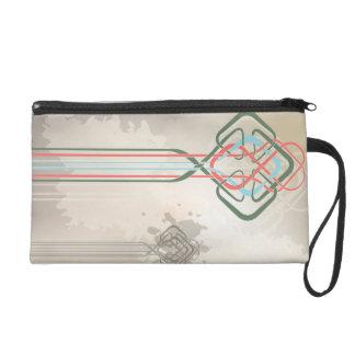 Celtic knot vintage decor wristlet purse