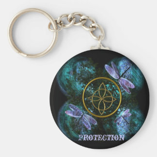 Celtic Knot/Witches Knot Basic Round Button Key Ring