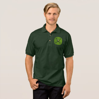 Celtic knot with tricolor and shamrock. polo shirt