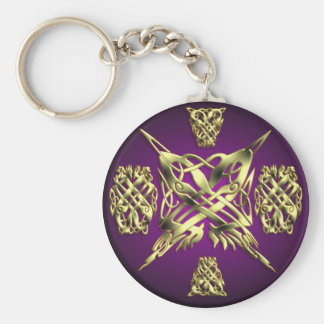 CELTIC KNOT WORK 1 ROUND BASIC ROUND BUTTON KEY RING