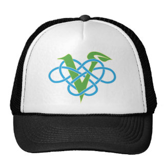 Celtic Knot Work Vegan Polyamory  Heart Cap