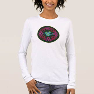 Celtic Knot Work Vegan Polyamory Heart Circle Long Sleeve T-Shirt