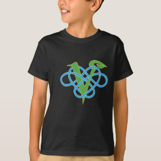 Celtic Knot Work Vegan Polyamory  Heart T-Shirt