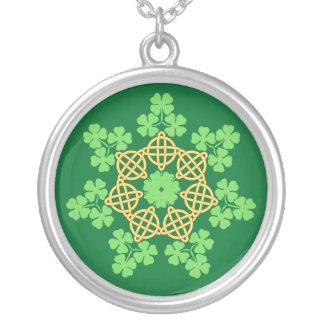 Celtic Knots and Shamrocks necklace