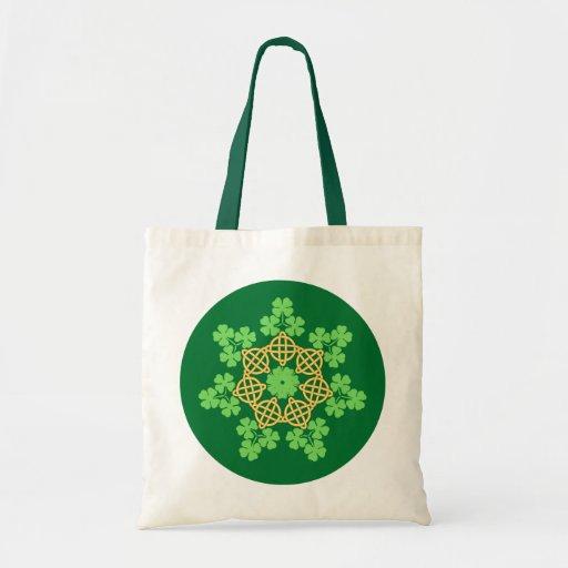 Celtic Knots and Shamrocks Tote Bag