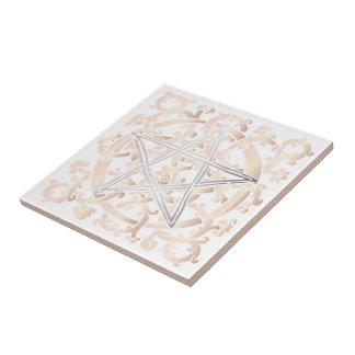 Celtic Knots & Pentacle - Trivet/Tile - 5 Small Square Tile