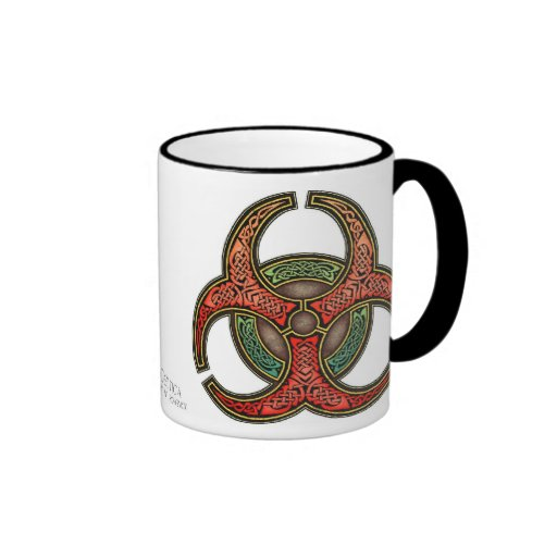 Celtic Knotwork Biohazard Mug