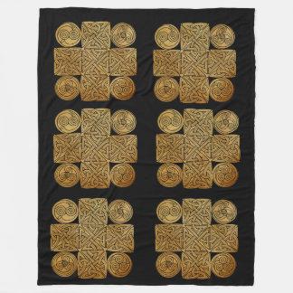 Celtic Knotwork Cross Fleece Blanket