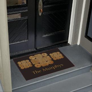Celtic Knotwork Cross Personalised Doormat