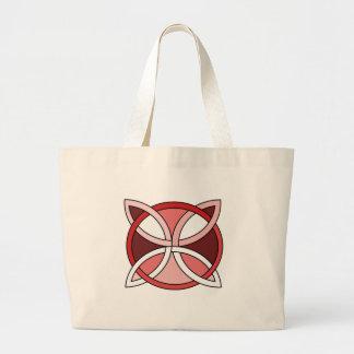 Celtic Knotwork Design - Interlacing Red Large Tote Bag