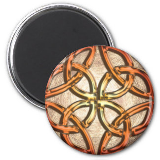 Celtic Knotwork Enamel 6 Cm Round Magnet