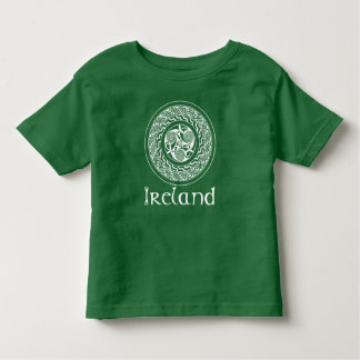 Celtic Knotwork Irish Medallion Pattern in Green Toddler T-Shirt