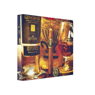 Celtic: Last of The Wiskey and A Good Cigar! Canvas Print