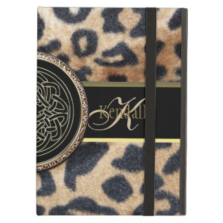 Celtic Leopard Print Personalized iPad Air Case