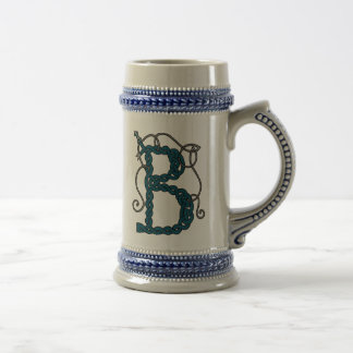 Celtic Letter B mug (right)