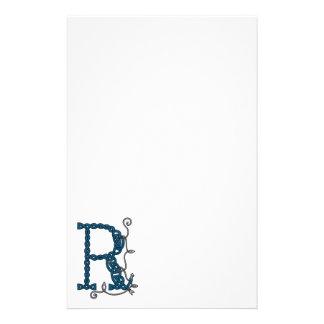 Celtic Letter R stationery