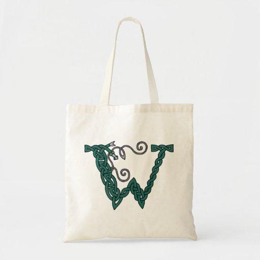 Celtic Letter W bag