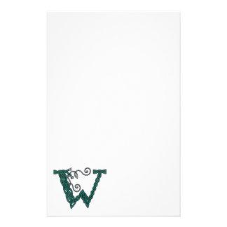 Celtic Letter W stationery
