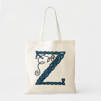 Celtic Letter Z bag