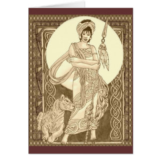Celtic Lioness Card