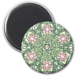Celtic Lotus 6 Cm Round Magnet