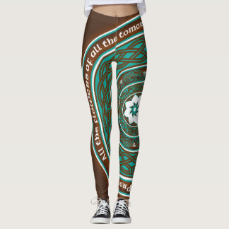 Celtic Lotus Mandala Leggings