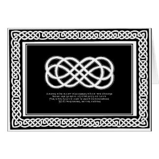 Celtic Love Knot and poem with border Card