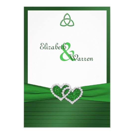 Celtic Love Knot in Emerald Green Invitation